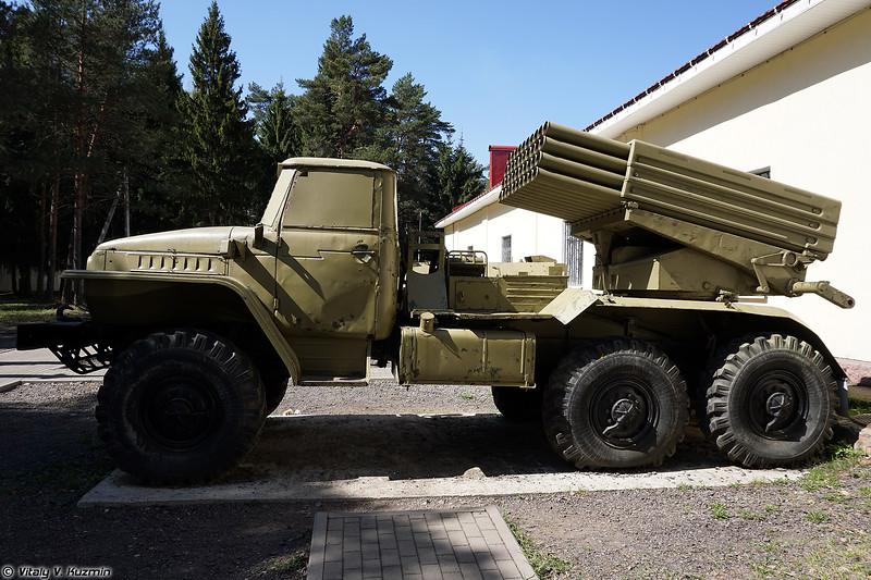 Боевая машина 2Б5 БМ-21 РСЗО Град (2B5 BM-21 Grad MLRS)