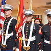 Sgt. Jesse Mudd, Sgt. William Taylor, Sgt. Jacob Elliot, Sgt. Dustin Waldrop present the colors at the beginning of the White Cross Memorial Service that was held at the Leominster Veterans' Center on Friday evening. SENTINEL & ENTERPRISE / Ashley Green