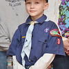 Vincent Frye, 8, of Leominster attended the White Cross Memorial Service that was held at the Leominster Veterans' Center on Friday evening. SENTINEL & ENTERPRISE / Ashley Green