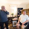 Exchange-U.S. Army veterans Brian Keenan and Anthony Farinelli in Farinelli's Leominster home. The two, Keenan from Fitchburg and Farinelli from Leominster, served together in Vietnam and have not been able to track each other down until recently. SENTINEL & ENTERPRISE / Ashley Green