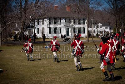 Lexington MA - Rehearsal For Battle Green Reenactment