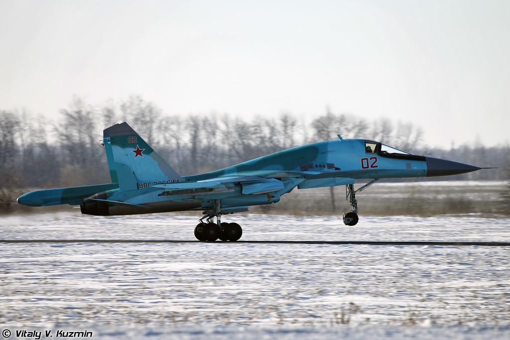 Су-34 бортовой номер 02 Красный (Su-34 02 Red)