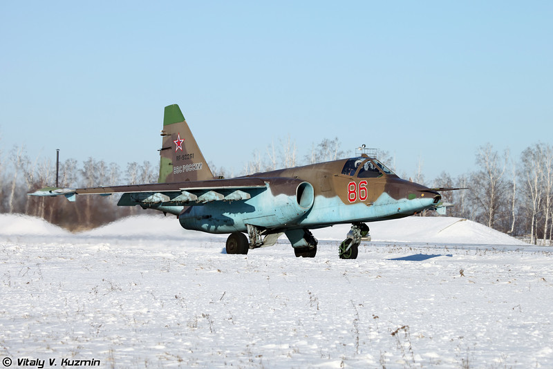 Су-25СМ регистрация RF-92261, бортовой номер 86 Красный (Su-25SM RF-92261, 86 Red)