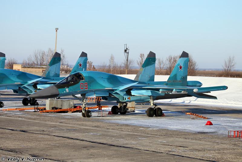 Су-34 бортовой номер 09 Красный (Su-34 09 Red)