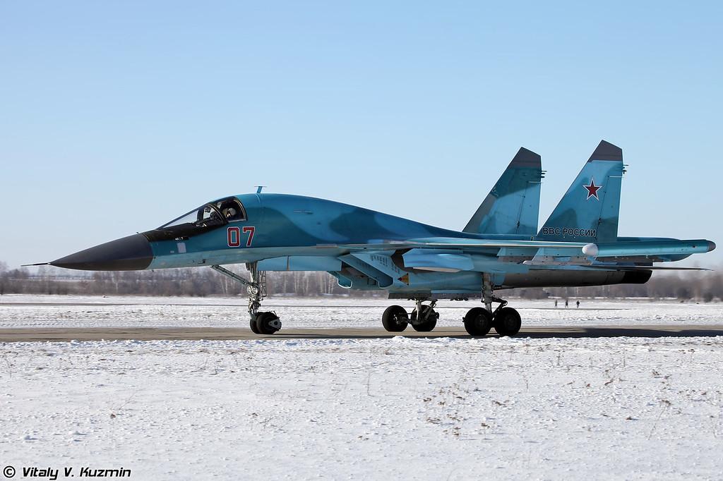Су-34 бортовой номер 07 Красный (Su-34 07 Red)