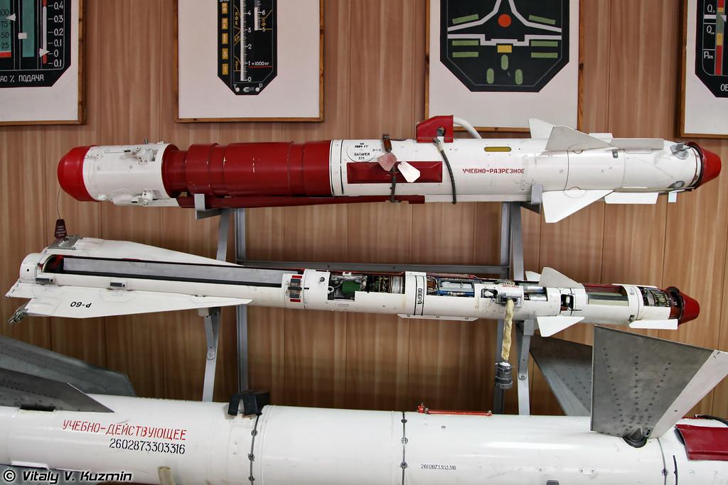 Управляемые ракеты малой дальности Р-73 и Р-60 (R-73 and R-60 missiles)
