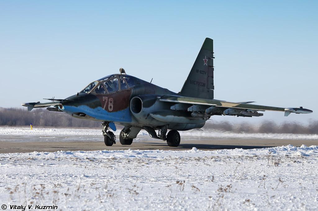 Су-25УБ регистрация RF-92274, бортовой номер 78 Красный (SU-25UB RF-92274, 78 Red)