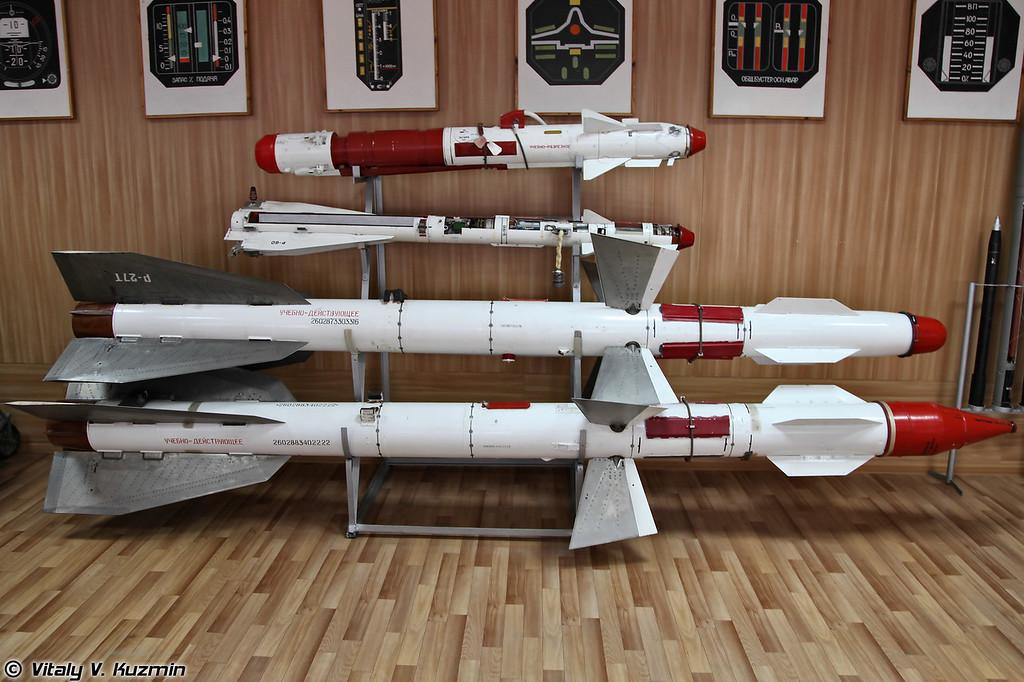 Управляемые ракеты малой дальности Р-73 и Р-60, средней дальности Р-27Т и Р-27Р (R-73, R-60, R-27T and R-27R missiles)