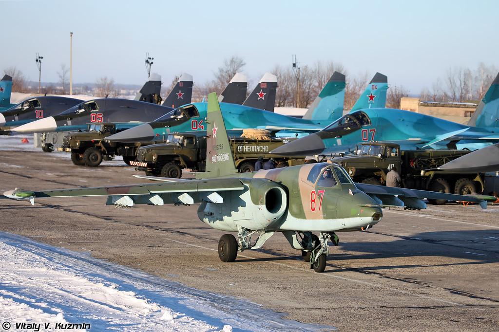 Су-25СМ регистрация RF-92255, бортовой номер 87 Красный (Su-25SM RF-92255, 87 Red)