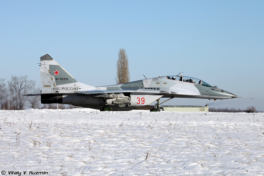 МиГ-29УБ регистрация RF-92231, бортовой номер 39 Красный (MiG-29UB RF-92231, 39 Red)