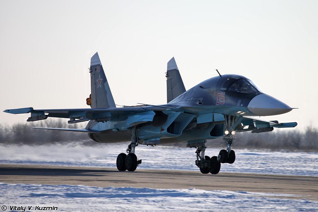 Су-34 бортовой номер 05 Красный (Su-34 05 Red)