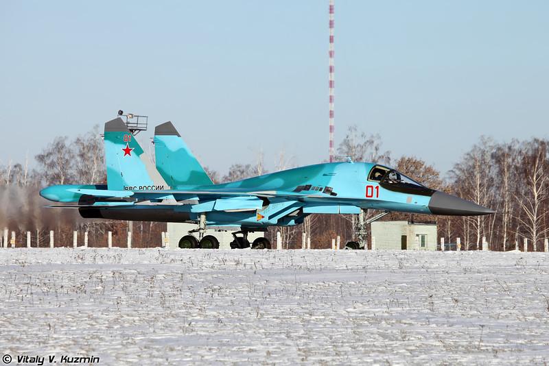 Су-34 бортовой номер 01 Красный (Su-34 01 Red)
