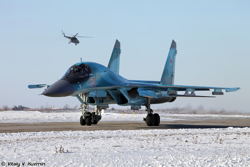 Су-34 бортовой номер 08 Красный (Su-34 08 Red)