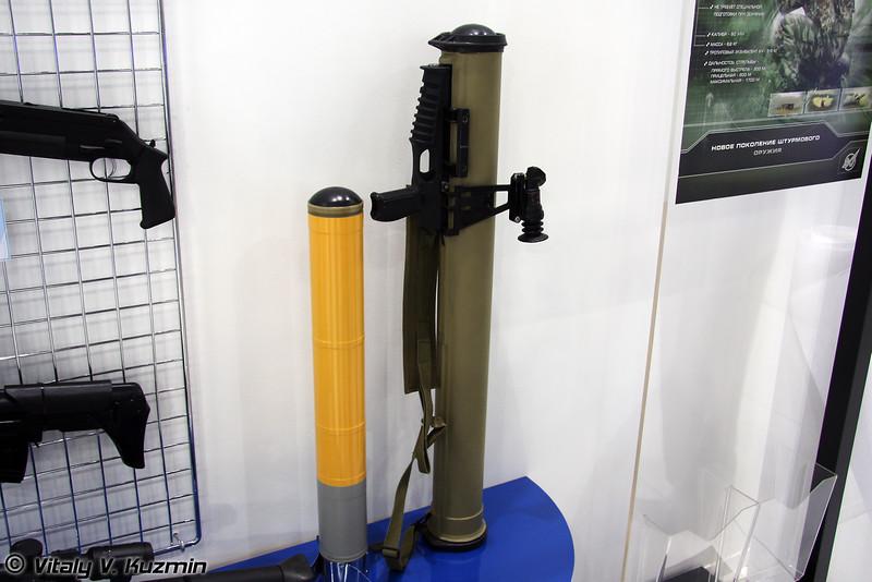 Реактивный пехотный огнемет повышенной дальности и мощности Шмель-М (Shmel-M infantry rocket-assisted flamethrower of enhanced range and lethality)