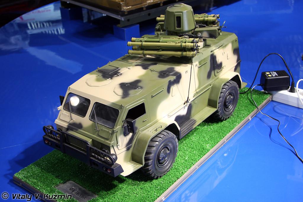 ГАЗ-39371 с зенитным комплексом Феникс (GAZ-39371 with airdefence system Feniks)