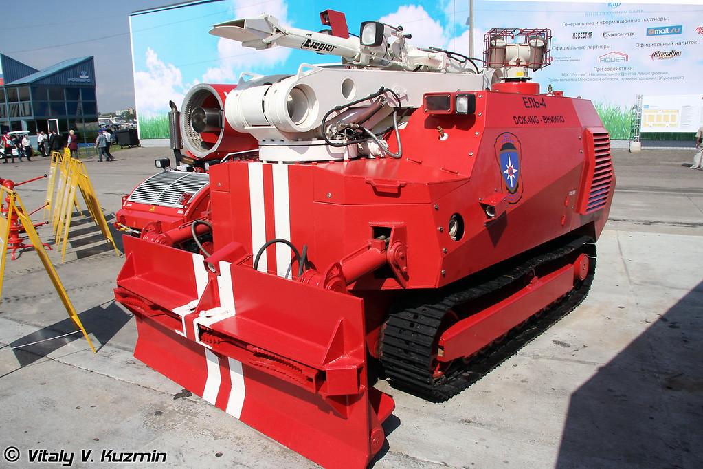 Робототехнический комплекс пожаротушения Ель-4 (Unmanned firefighting vehicle El-4)