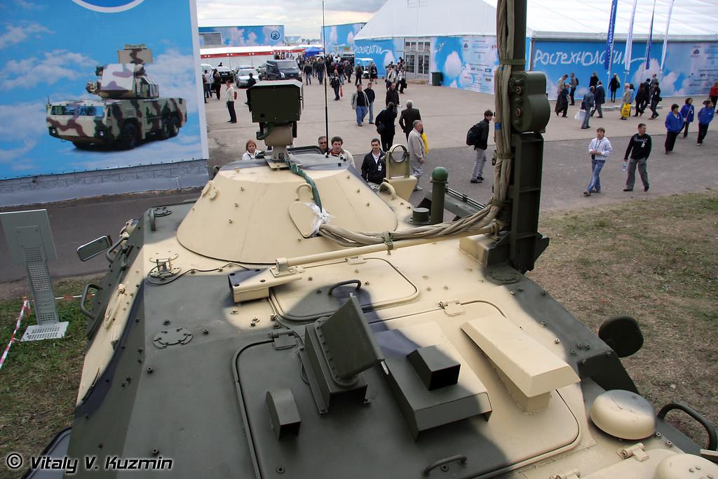 Подвижный пункт управления ПУ-12-М7 на транспортной базе К1Ш1 (Mobile command post PU12-M7 on K1Sh1 base)