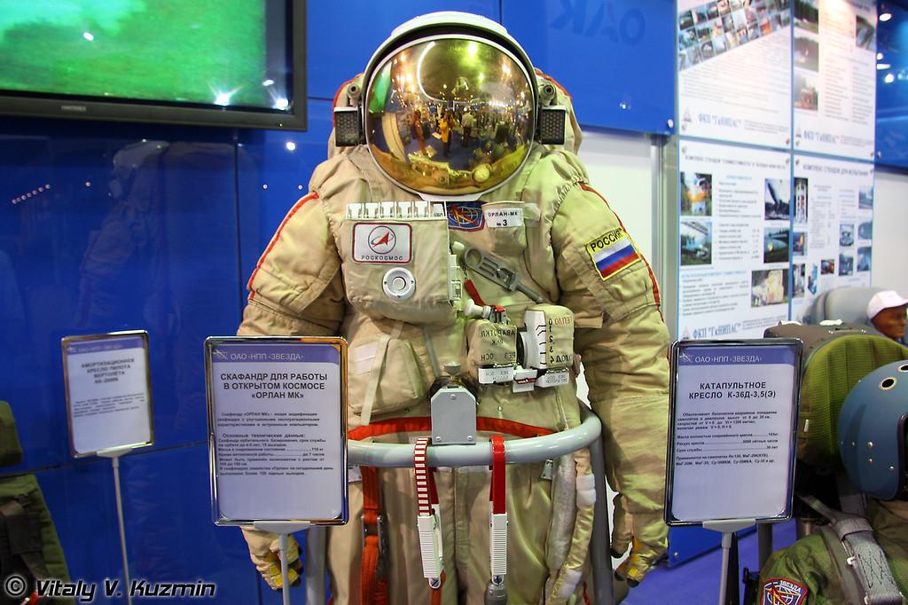 Скафандр для работы в открытом космосе Орлан МК (Orlan MK spacesuit)