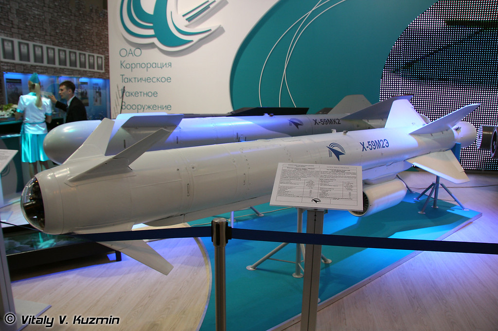 Комплекс ракетного оружия ОВОД-МЭ с ракетой Х-59М2Э для поражения наземных и надводных целей (Air-to-surface OVOD-ME missile system with X-59M2E missile)