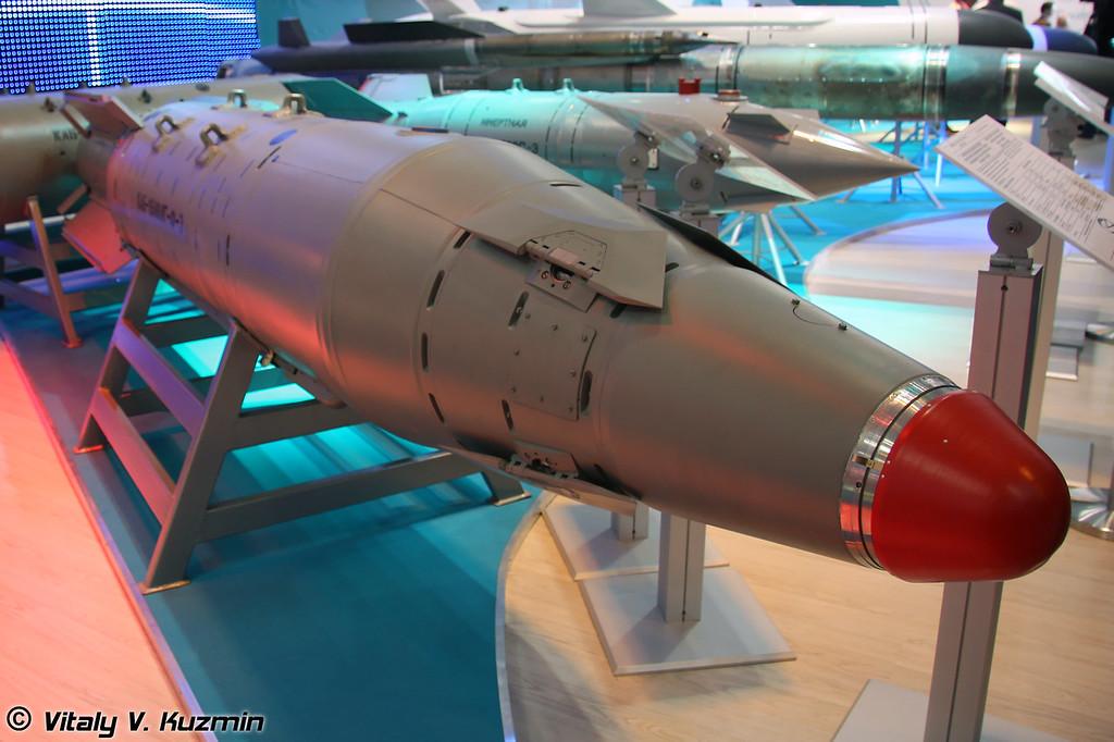 Корректируемая авиационная бомба КАБ–1500ЛГ-Ф-Э с фугасной боевой частью (KAB–1500LG-F-E guided bomb)