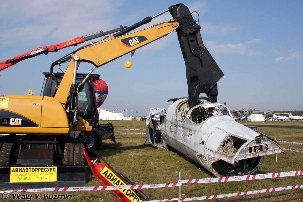 Утилизация авиатехники (Aircraft recycling company Aviavtorresurs)