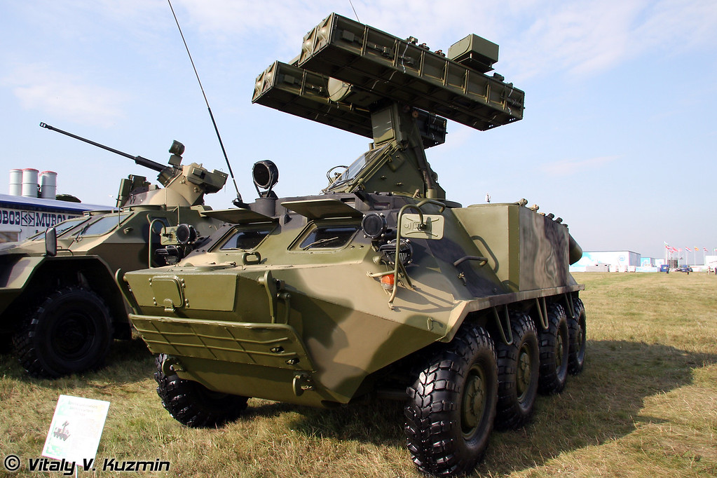 БМ из состава ЗРК Колчан (Fighting vehicle from Air defence system Kolchan)
