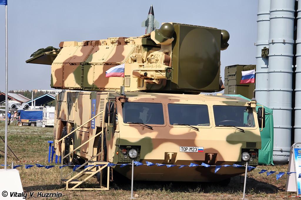 Боевая машина 9А331МК из состава ЗРК Тор-М2Э (9A331MK transporter erector launcher and radar from Tor-M2E missile system)