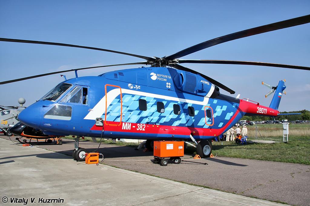 Первый опытный Ми-38 (другие наименования Ми-38 ОП-1 и Ми-382) в новой раскраске (First prototype Mi-38 (another names Mi-38 OP-1 and Mi-382) with new paint