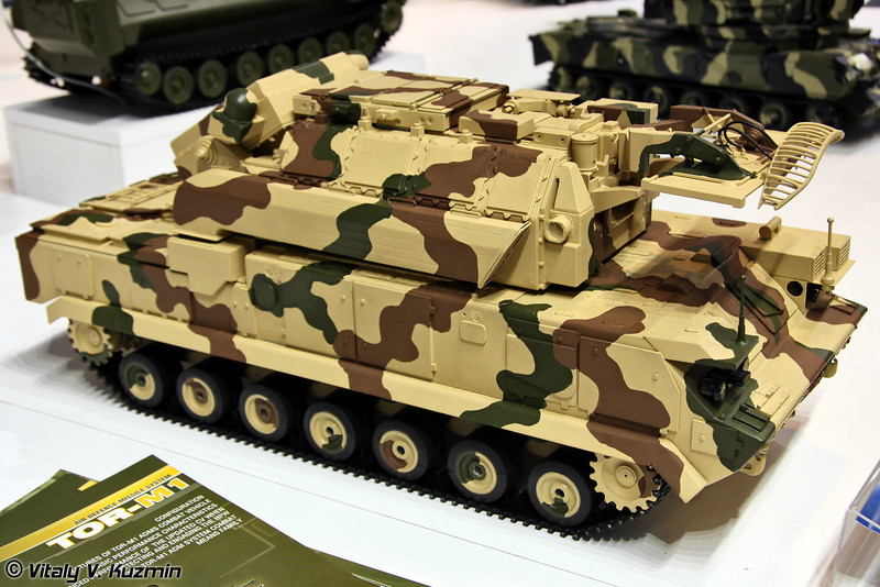 Боевая машина 9А331МЭ ЗРК Тор-М2Э (9A331ME tracked combat vehicle from Tor-M2E system)