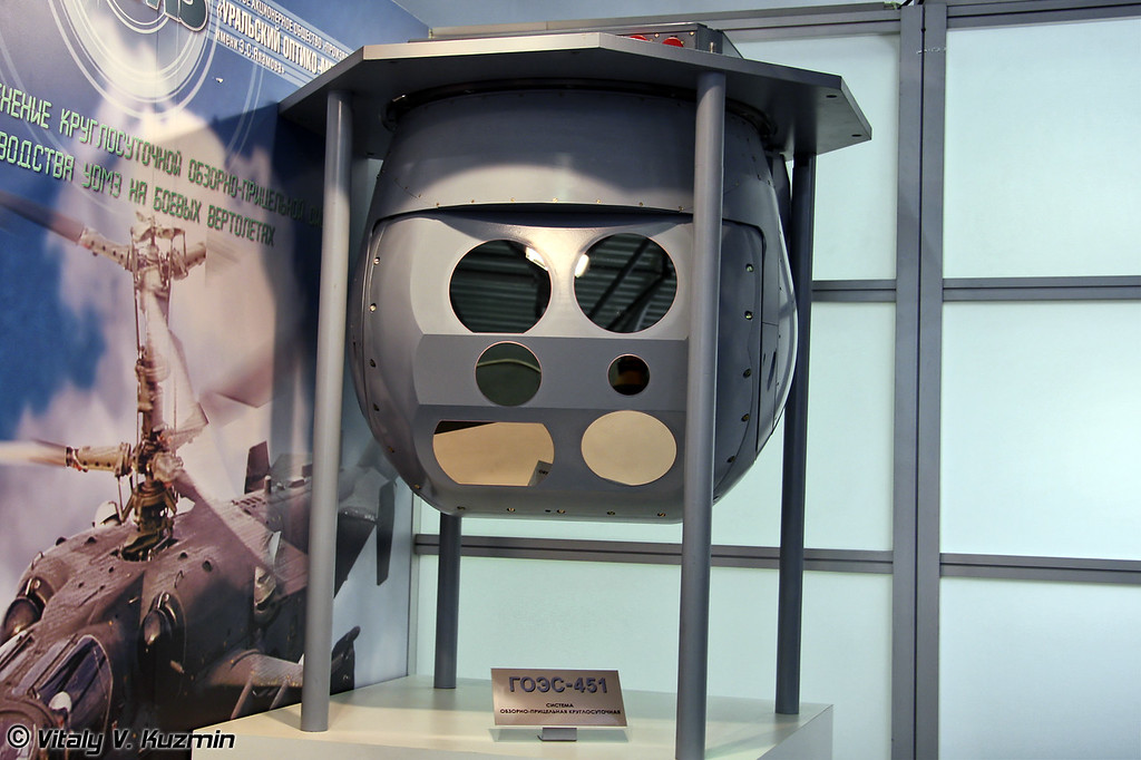 Круглосуточная обзорно-прицельная система ГОЭС-451 (Day-and-night observation and sight system for combat helicopters GOES-451)