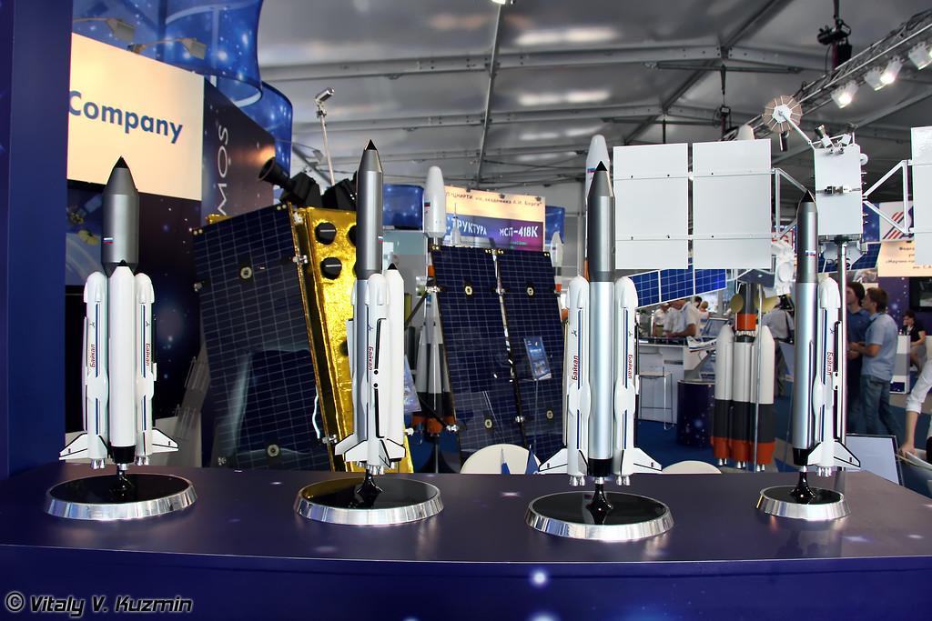 Семейство многоразовых ракет космического назначения на основе многоразового ускорителя Байкал (Family of reusable launch vehicles with reusable Baikal rocket booster)