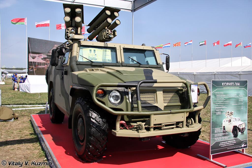 Противотанковый ракетный комплекс Корнет-ЭМ (Kornet-EM anti-tank guided missile system)
