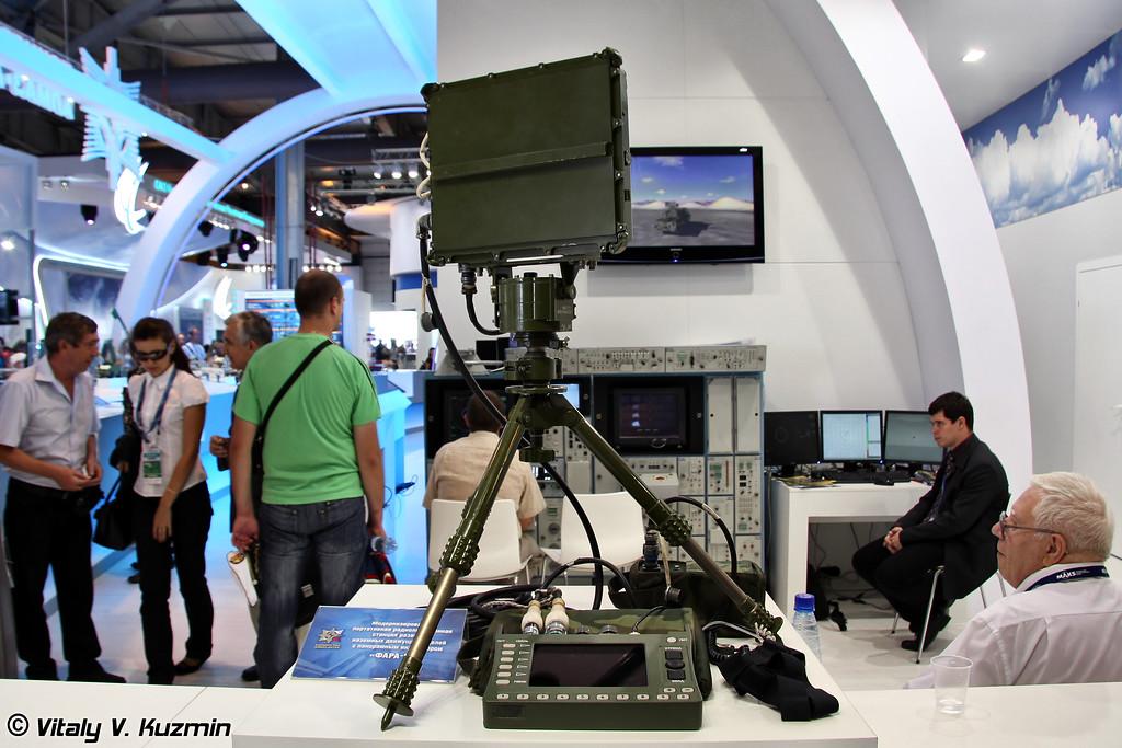 Модернизированная портативная радиолокационная станция разведки наземных движущихся целей с панорамным индикатором Фара-ВР (Upgraded portable ground targets surveillance radar with a panoramic display FARA-VR)