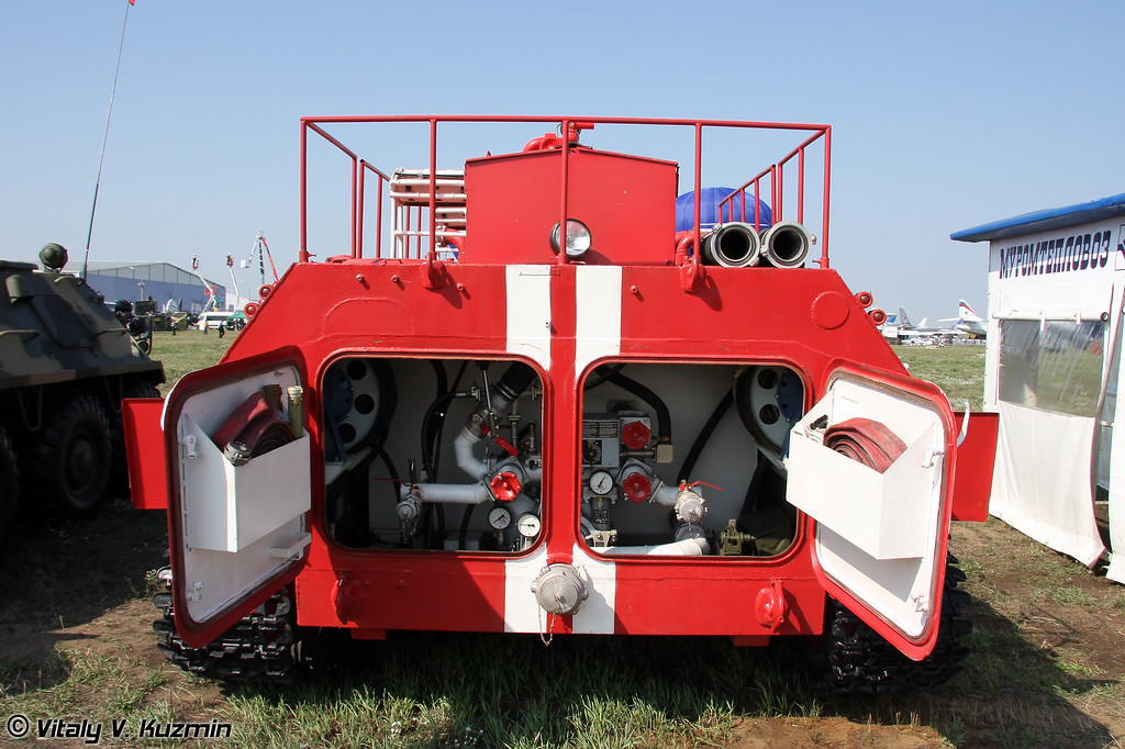 Пожарная машина МТ-ЛБу-ГПМ-10 (MT-LBu-GPM-10 fire fighting vehicle)
