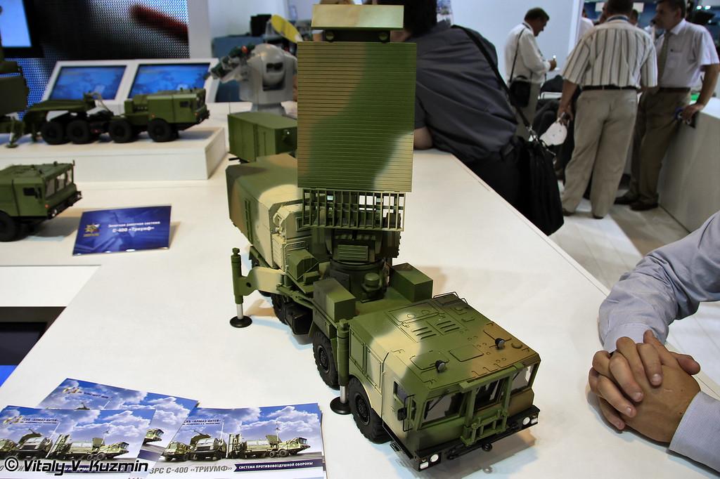 Всевысотная РЛС 96Л6Е из состава ЗРС С-400 (96L6E radar rom S-400 missile system)