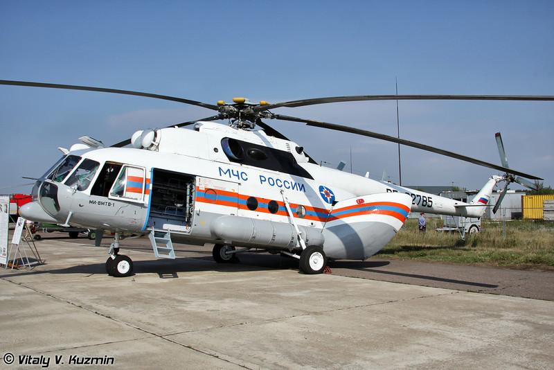 Ми-8МТВ-1 с медицинским модулем (Mi-8MTV-1 with medic module)