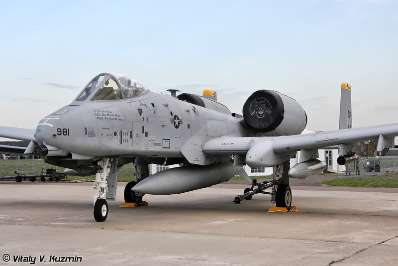 A-10 Thunderbolt II 81-й истребительной эскадрильи 52-го истребительного крыла, авиабаза Spangdahlem, Германия (A-10 Thinderbolt II from 81st Fighter Squadron 52nd Fighter Wing, Spangdahlem AB, Germany)