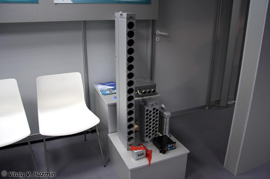 Устройство выброса ложных тепловых целей УВ-26 (Infrared countermeasure flares release device UV-26)