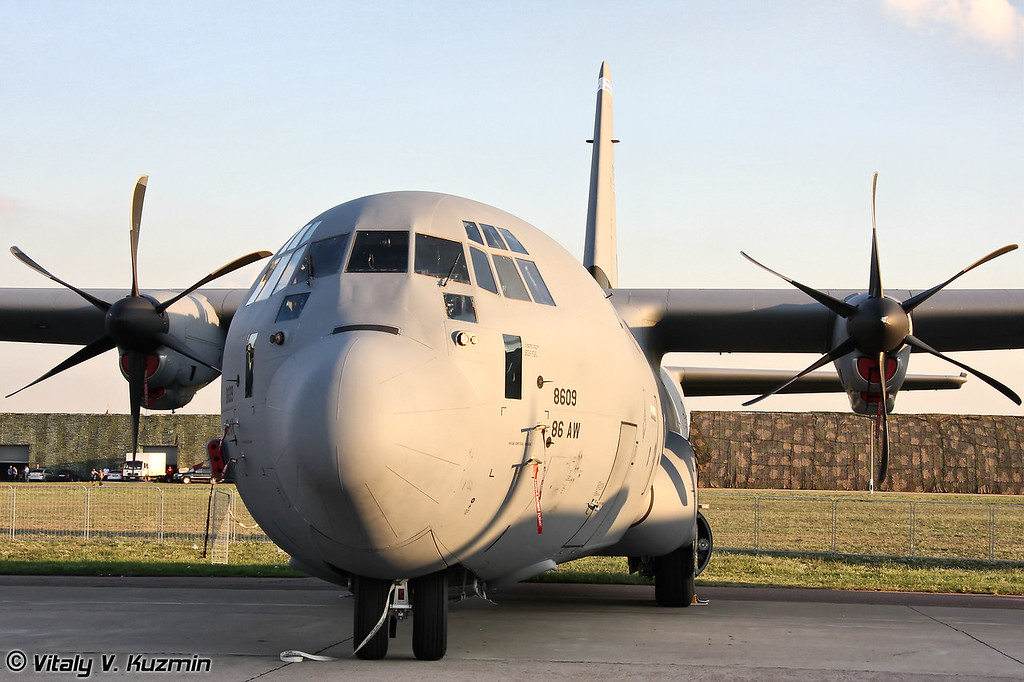 C-130J Super Hercules 37-й транспортной эскадрильи 86-го транспортного крыла, авиабаза Ramstein, Германия (C-130J from 37th Airlift Squadron 86th Airlift Wing, Ramstein AB, Germany)