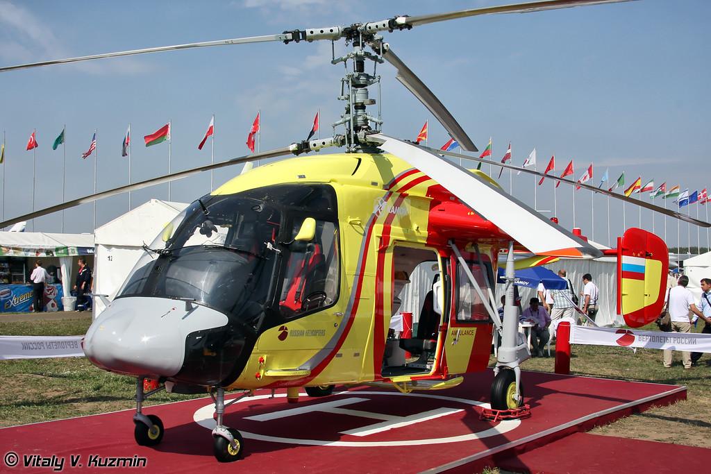 Ка-226Т с медицинским модулем (Ka-226T in ambulance version)