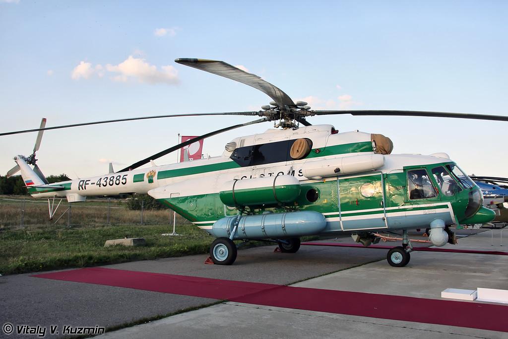 Многофункциональный вертолет Ми-8АМТ в версии для Федеральной таможенной службы России (Multipurpose helicopter Mi-8AMT version for Customs service)