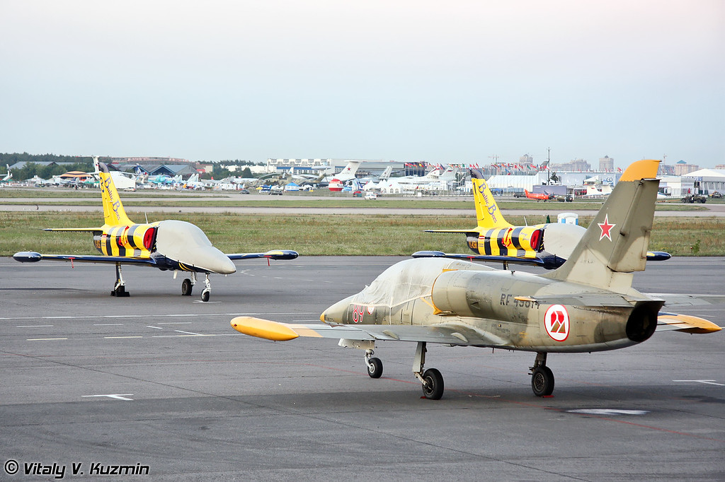 L-39 Albatros пилотажных групп Baltic Bees и Русь (L-39 Albatros from Rus' and Baltic Bees aerobatics groups)