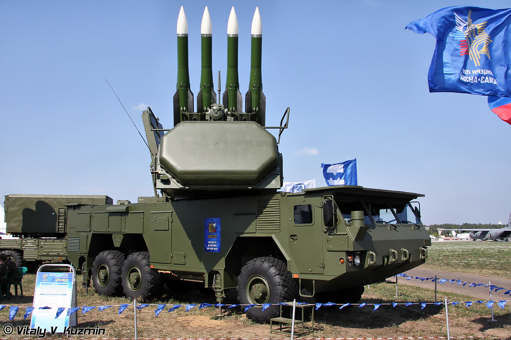 Самоходная огневая установка 9А317Э из состава ЗРК Бук-М2Э (9A317E transporter erector launcher and radar from Buk-M2E missile system)