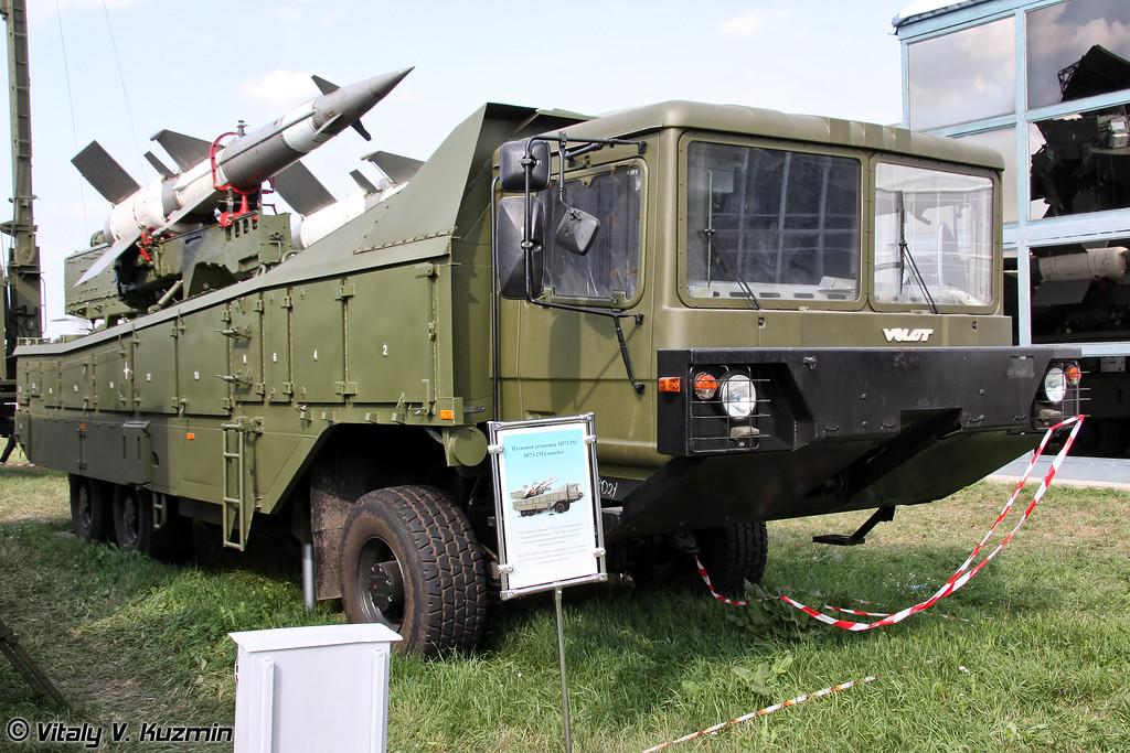 Пусковая установка 5П73-2М на шасси МЗКТ-8021 из состава ЗРК Печора-2М (5P73-2M transporter erector launcher on MZKT-8021 chassis from Pechora-2M missile system)