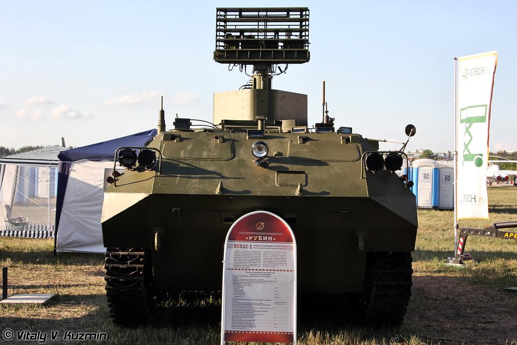 Модуль разведки и управления 9С932-1 с РЛС 1Л122-1Е из состава комплект средств автоматизации Барнаул-Т (9S932-1 intelligence and control module with 1L122-1E radar from Barnaul-T command system)