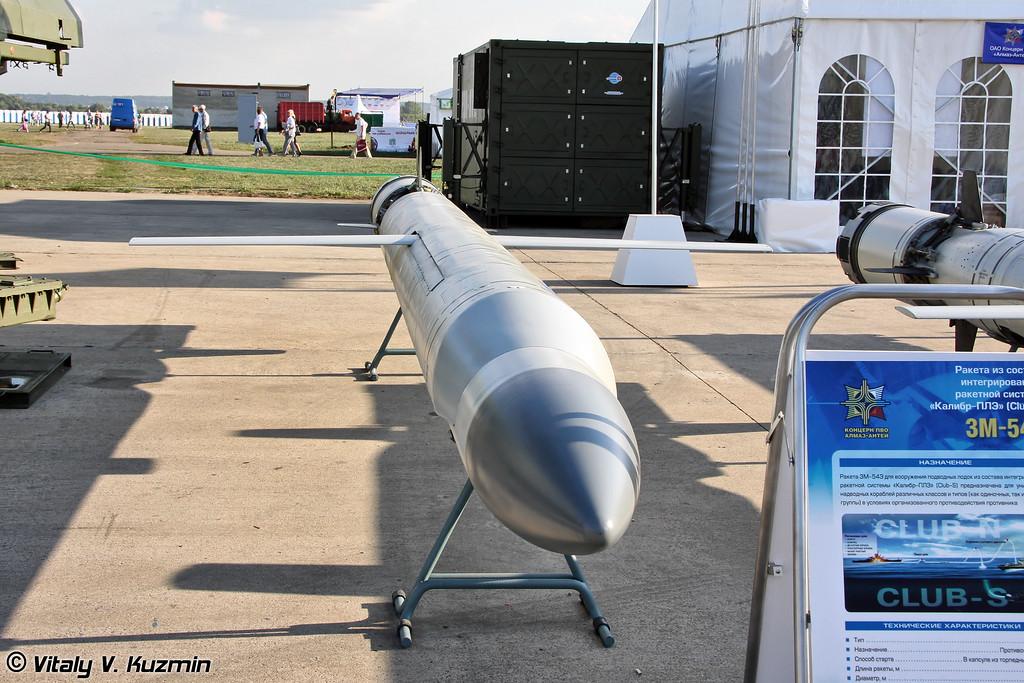 Ракета 3М-54Э для вооружения подводных лодок из состава интегрированной ракетной системы Калибр-ПЛЭ/Club-S предназначена для уничтожения надводных кораблей (3M-54E submarine launched anti-ship missile from Kalibr-PLE/Club-S system)