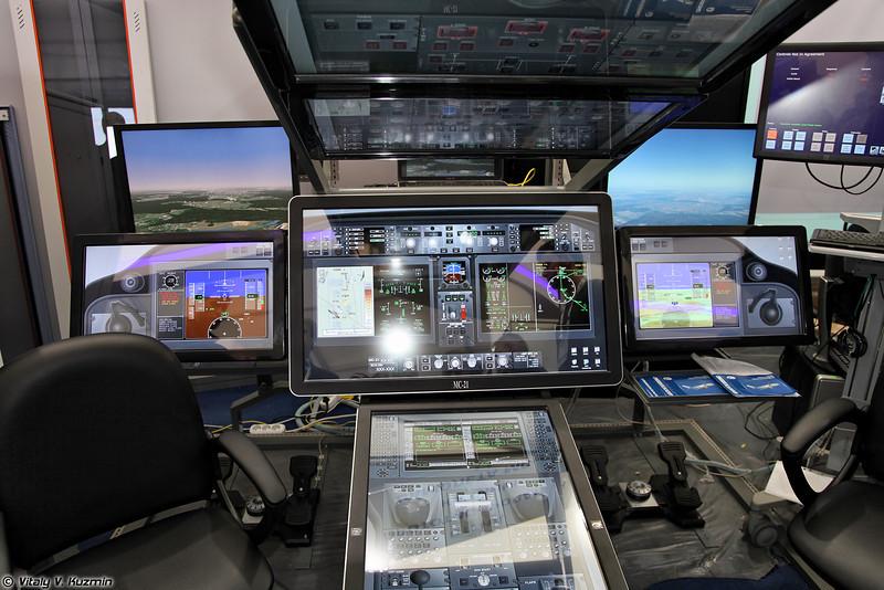 Стенд прототипирования кабины самолета МС-21 (MC-21 aircraft cockpit work bench)