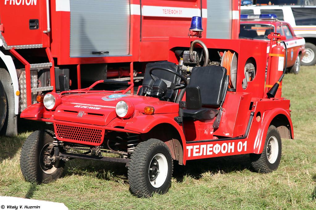Пожарный микроавтомобиль широкого назначения БАГГИ МАП-2-1,0 (Light fire fighting vehicle BAGGI MAP-2-1,0)