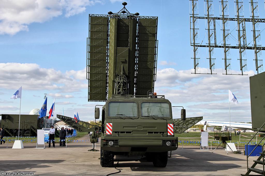 Радиолокационный комплекс 55Ж6МЕ (55Zh6ME Nebo-ME mobile multiband radar system)<br /> Радиолокационный модуль дециметрового диапазона волн РЛМ-ДЕ (RLM-DE radar)