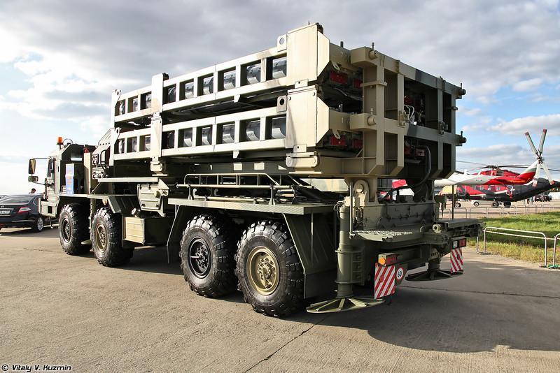 Зенитная ракетная система С-350Е Витязь - Пусковая установка 50П6Е (S-350E Vityaz Surface-to-air missile system - 50P6E transporter erector launcher)